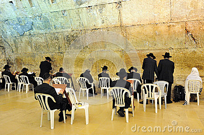 The Cave Synagogue in Jerusalem Western Wall Editorial Photography