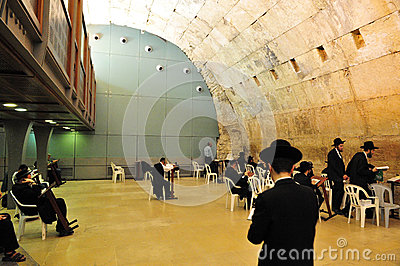 The Cave Synagogue in Jerusalem Western Wall Editorial Stock Image