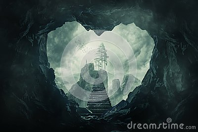 The cave of your heart Stock Photo