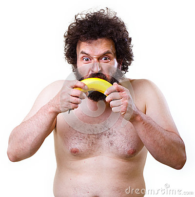 Caveman with a banana
