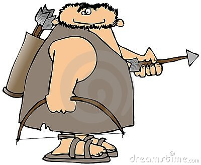 Caveman With Bow And Arrow
