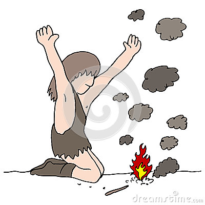 Caveman Discovers Fire