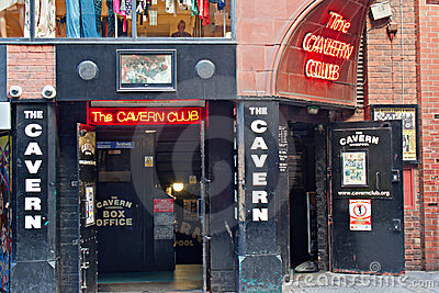 The Cavern Club, in Mathew St, Liverpool, UK. Editorial Stock Photo
