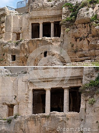 Caverne antique de tombeau de Benei Hezir à Jérusalem