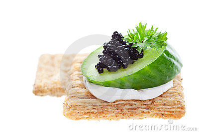 Caviar on crackers