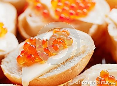 Caviar De La Trucha De Color Salmón