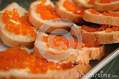 Caviar Sandwiches
