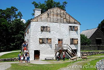 Cavité somnolente, NY : C. manoir 1750 de Philipsburg Image éditorial