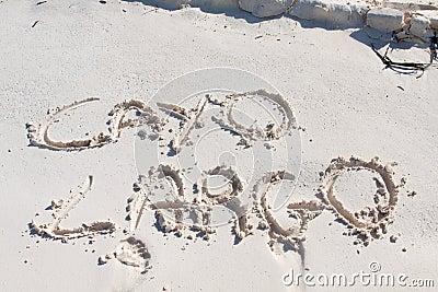 Cayo Largo written on the sand