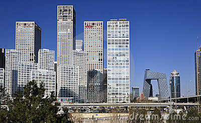 CBD-Beijing city Economic centers Editorial Stock Photo