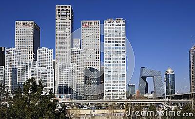 CBD-Beijing city Economic centers Editorial Stock Photo