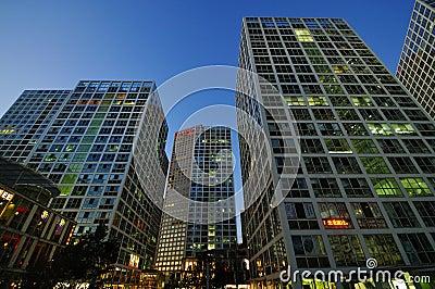 CBD-Beijing city Economic centers Editorial Image