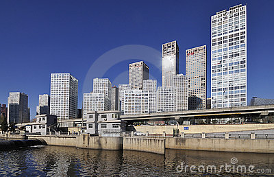 CBD-Beijing city Economic centers,china Editorial Stock Image