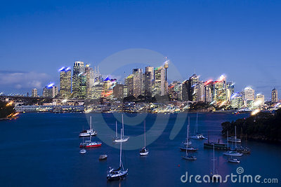 CBD Soft Bay Night Stock Photography - Image: 15469992
