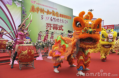 CChinese New Year Festivities Show Editorial Stock Photo