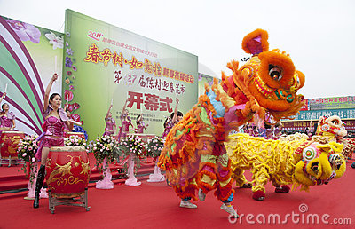 CChinese New Year Festivities Show Editorial Photo