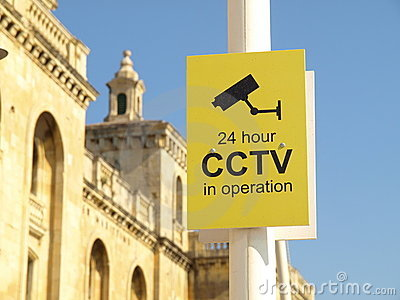 CCTV 24 hour Security Camera video sign