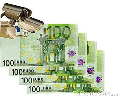 Cctv camera & 100 Euro. Business & control