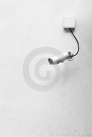 Free CCTV Camera At The Corner Of The Building Stock Image - 34554951