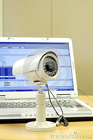 Cctv camera and computer