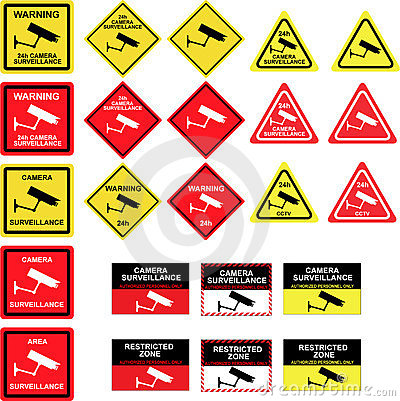 Cctv camera surveillance signs