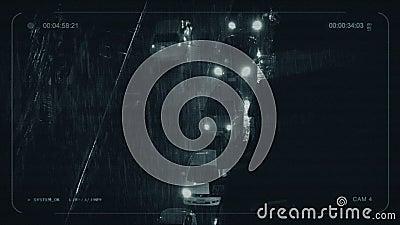 CCTV samochody W Heavy Rain W mieście zbiory
