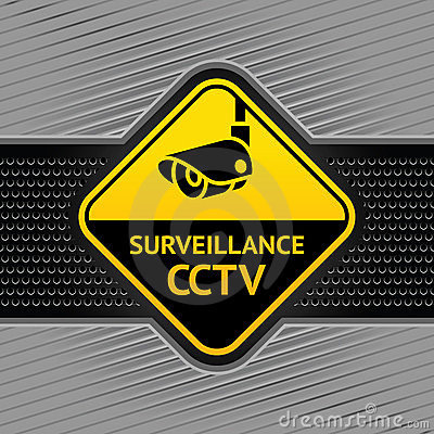 Free Cctv Symbol On A Background Industrial Template Stock Photography - 23642032