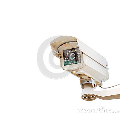 The CCTV. on white isolate background for design security system