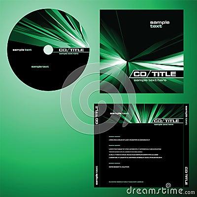 CD的盖子设计向量