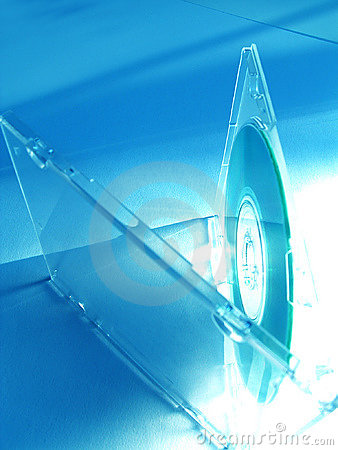 CD in blue tones
