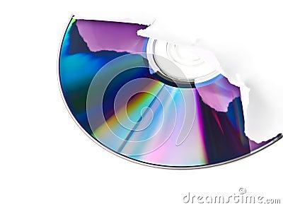 CD breaking through paper sheet