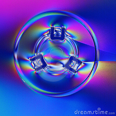 CD cover in polarized light