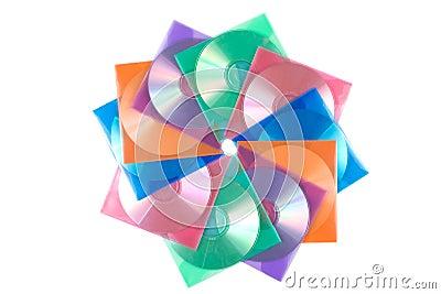 CD-disks in multi-colored envelopes