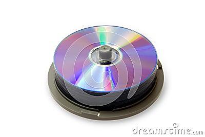 CD disks on spindle