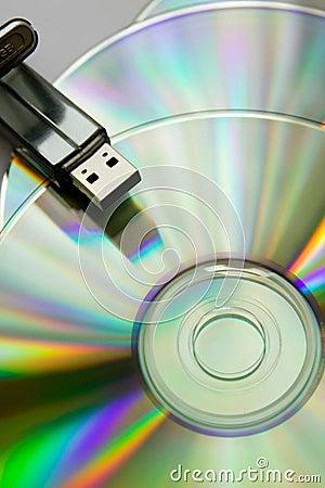 Cd disks with USB flash