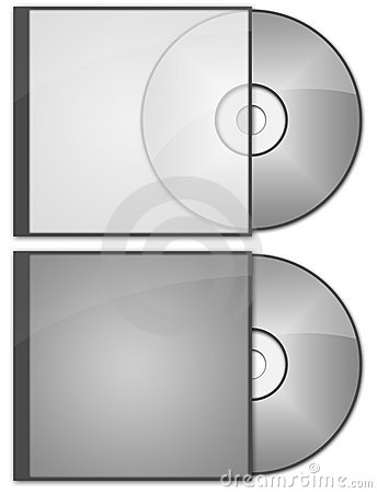 CD DVD cases and discs