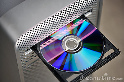 CD or DVD in computer drive