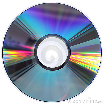 CD / DVD disk isolated on White