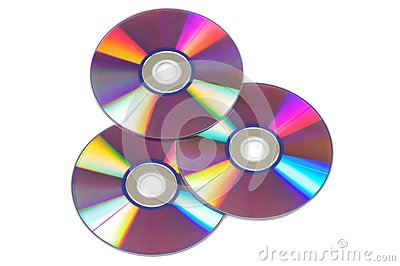 CD/DVD isolated on white