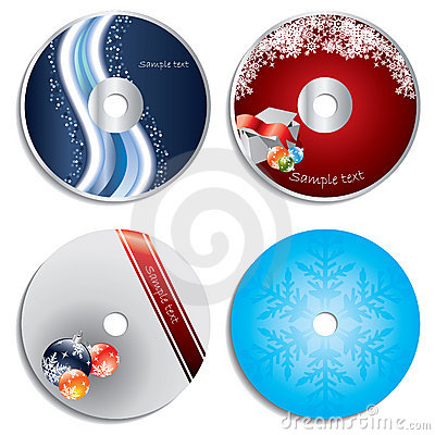 CD & DVD label christmas designs
