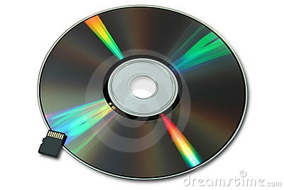 CD or DVD and micro flash card