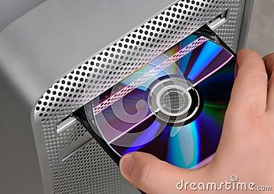 CD or DVD reader