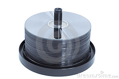 CD/DVD Spindle - Blue Toned