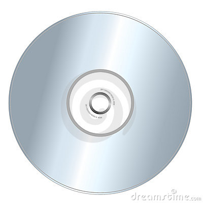 CD getrennt auf Weiß