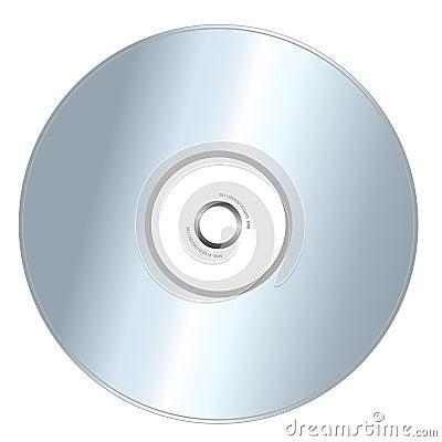 CD isolado no branco