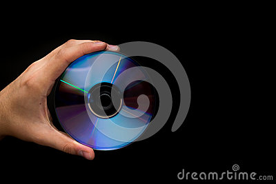 CD isolated on black