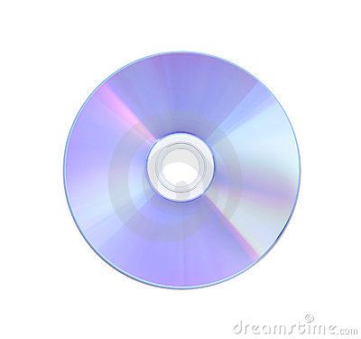 CD isolated on White with Clipping Path