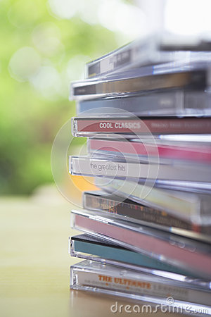 Cd Jewel Cases On Table Editorial Photo