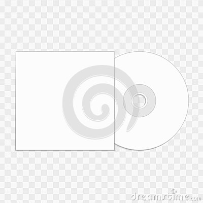CD Mockup Template Vector Image 90638091 – Compact Cd Envelope Template