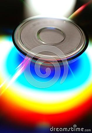 CD rainbow flare